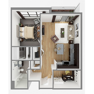 Lot 858 Floor plan layout