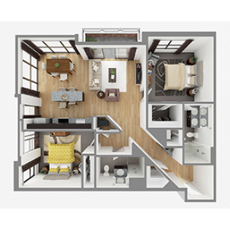 Lot 1101 Floor plan layout