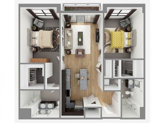 Lot 1105 Floor plan layout