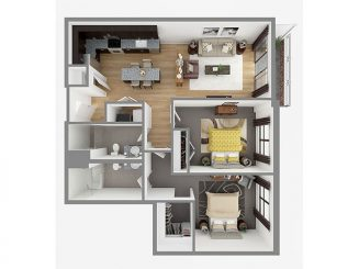 Lot 1035 Floor plan layout