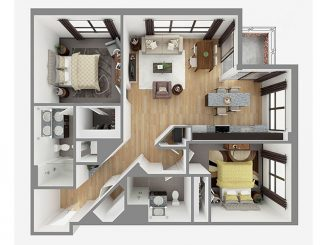 Lot 1106 Floor plan layout